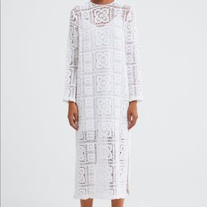 ZARA textures weave dress